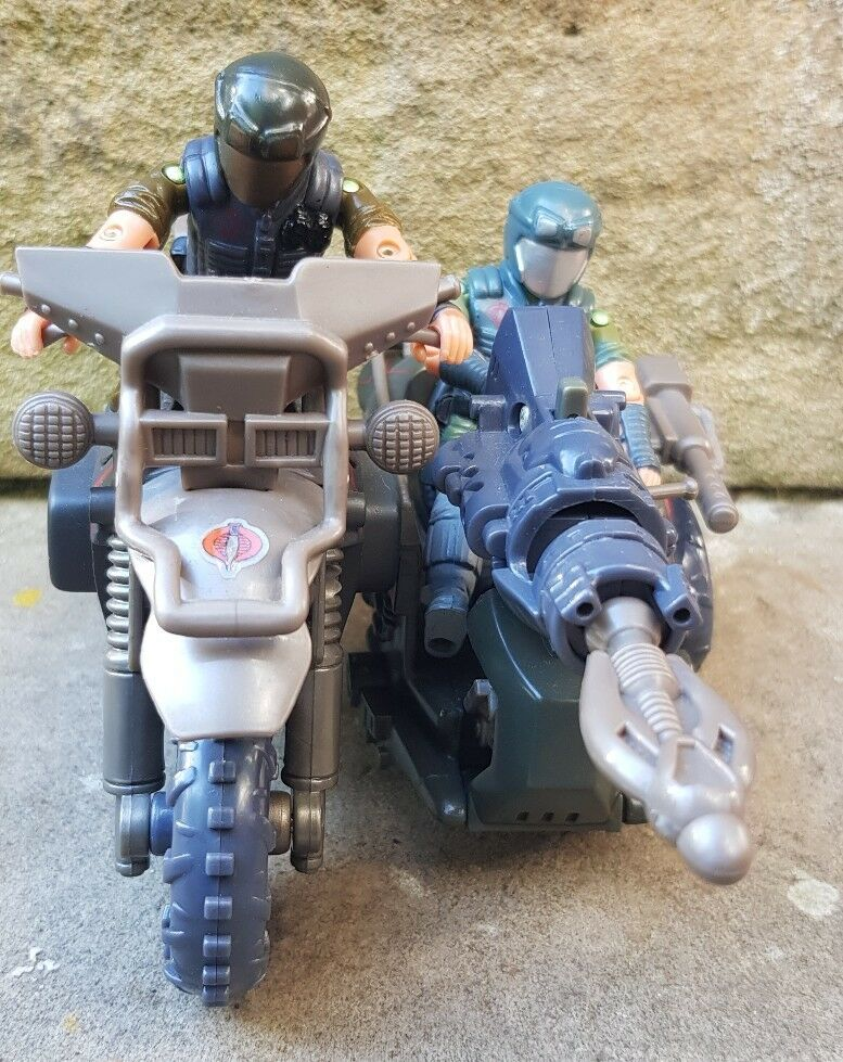 Action Force GI Joe Cobra Venom Cycle With 2 Green Vipers Army Builder