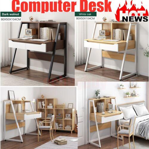 Ladder Modern 3 Tier Computer Study Desk with Book Shelves Corner Computer Desk