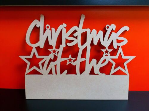 Mdf 4mm Christmas At The Sign with bar for Vinyl users 27.5cm Multi listing