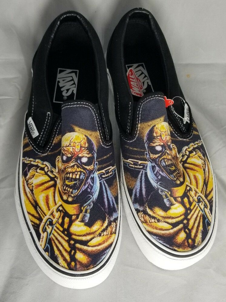 IRON MAIDEN VANS Peace of Mind CLASSIC SLIP ON SZ Mens 8.5 WMS 10 NEW IN BOX