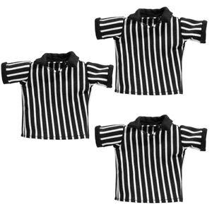 Set-of-3-Wrestling-REFEREE-Action-Figure-Cloth-Shirts
