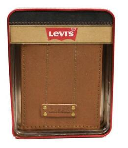 NEW-LEVI-039-S-MEN-039-S-PREMIUM-COATED-LEATHER-BILLFOLD-CREDIT-CARD-WALLET-TAN-31LV2216