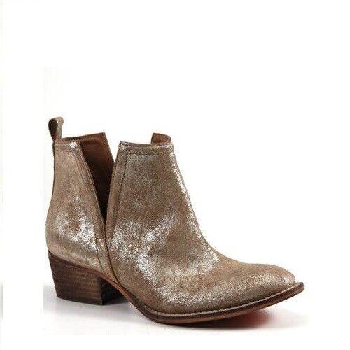 Diba True Ladies Stop By gold Metallic Leather Booties 54620