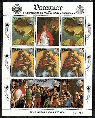 Übersee:5462 Briefmarken Paraguay Michelnummer 3732 Kleinbogen Postfrisch Motive