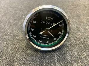 SMITH-TYPE-SPEEDOMETER-0-80-MPH-BSA-TRIUMPH-NORTON-AJS-MATCHLESS-ROYAL-ENFIELD