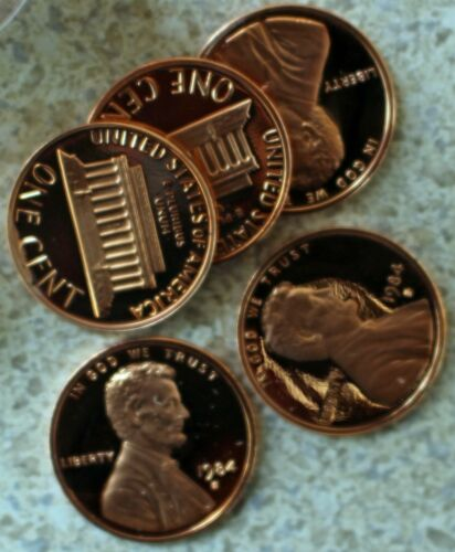 Roll 1984 S Lincoln Penny One-Cent Proof 50 Coin Roll United States Mint Coin 1c
