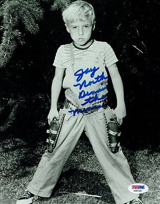 Photographs Jay North Signed Dennis The Menace Autographed 8x10 B/w Photo Psa/dna #ab87435