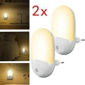 2PCS-Automatic-LED-Night-Light-Plug-Energy-Saving-Dusk-Dawn-Sensor-Kids-Light