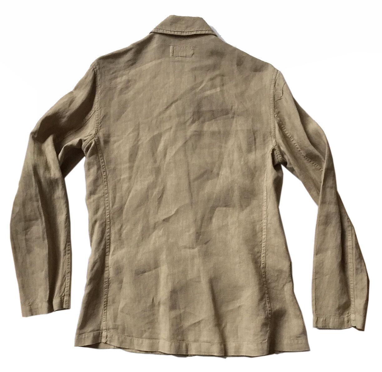 ETRO Womens Sz 44 / US 8 Tan Linen Jacket French … - image 4