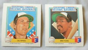 1988 Starting Lineup Talking Baseball Baltimore Orioles Baseball Card Pick one