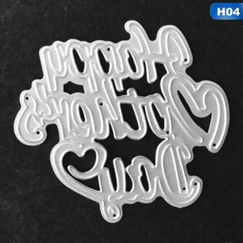 Cutting Dies Metal Stencil DIY Scrapbooking Embossing Paper Card Craft Dies @g
