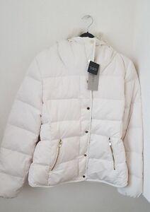 ZARA Off-White Short Anorak With Hidden Hood  DETACHABLE FAUX FUR ... 188f57e0552e