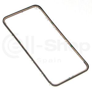 Marco-Soporte-Pantalla-Tactil-LCD-para-iPhone-4-Negro-con-Adhesivo-Fijador-3M