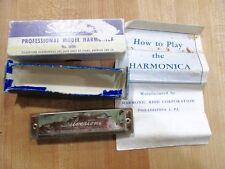 Vintage Silverton Harmonica in original box and instructions Model 1804 Sears >
