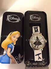 Disney Alice in Wonderland Wrist Watch Alice silhouette Rubber Style Strap + Box