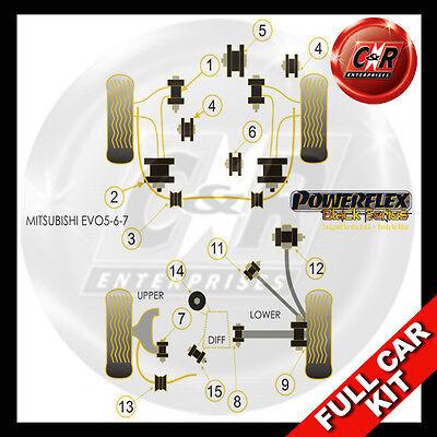 PFR44-119-21BLK Mitsubishi Powerflex Black Rear Anti Roll Bar Mounting 21mm