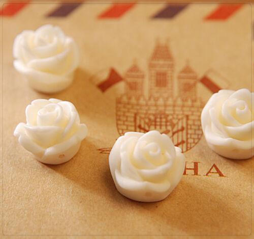 10x resin arte resina perlas//cabuchons flores para pegar joyas DIY elección de color 12mm