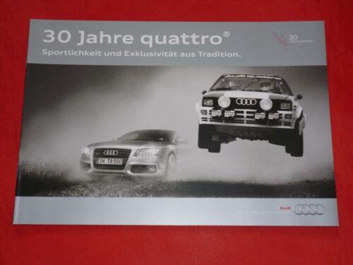 "AUDI A3 A4 A5 A6 TT Q5 Q7 /""30 Jahre quattro/"" Jubiläumspakete Prospekt von 2010"