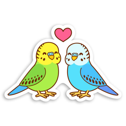 Bird Parrot Fun Laptop Sticker #20745 2 x 10cm Cute Lovebirds Vinyl Stickers