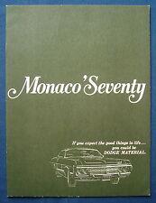 Prospekt brochure 1970 Dodge Monaco (USA)