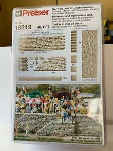 PREISER-18219-set-muri-di-contenimento-e-scalette-n-kit-plastica-1-87