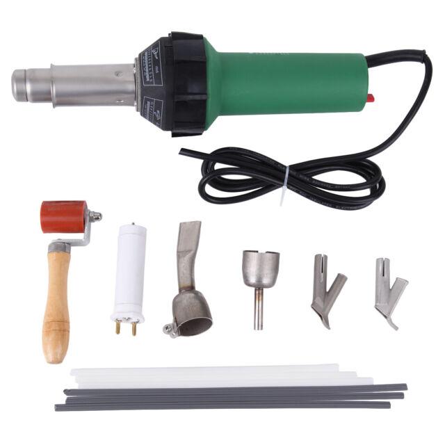 Ridgeyard 1600W Hot Air Gun Plastic Welding Heat Welder Kit w// Nozzles /& Rod
