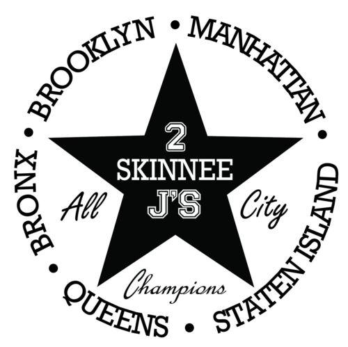 2 Skinnee J/'s All-City Champions 3//4 Sleeve Jersey T-Shirt Black /& White 2SJ NYC