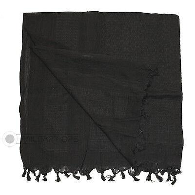 ORIGINAL SHEMAGH 100% COTTON BLACK ARAB DESERT SCARF SAS ARMY