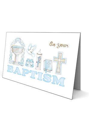 Battesimo Biglietto D'auguri-per Un Ragazzo-