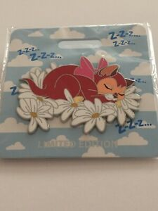 Disney-WDI-D23-2019-Cat-Nap-Dinah-LE-300-Pin-Alice-in-Wonderland-Flowers-Daisies