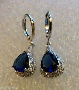 B09-Plum-UK-blue-sapphire-amp-sim-diamond-pear-drop-earrings-white-gold-gf-BOXED
