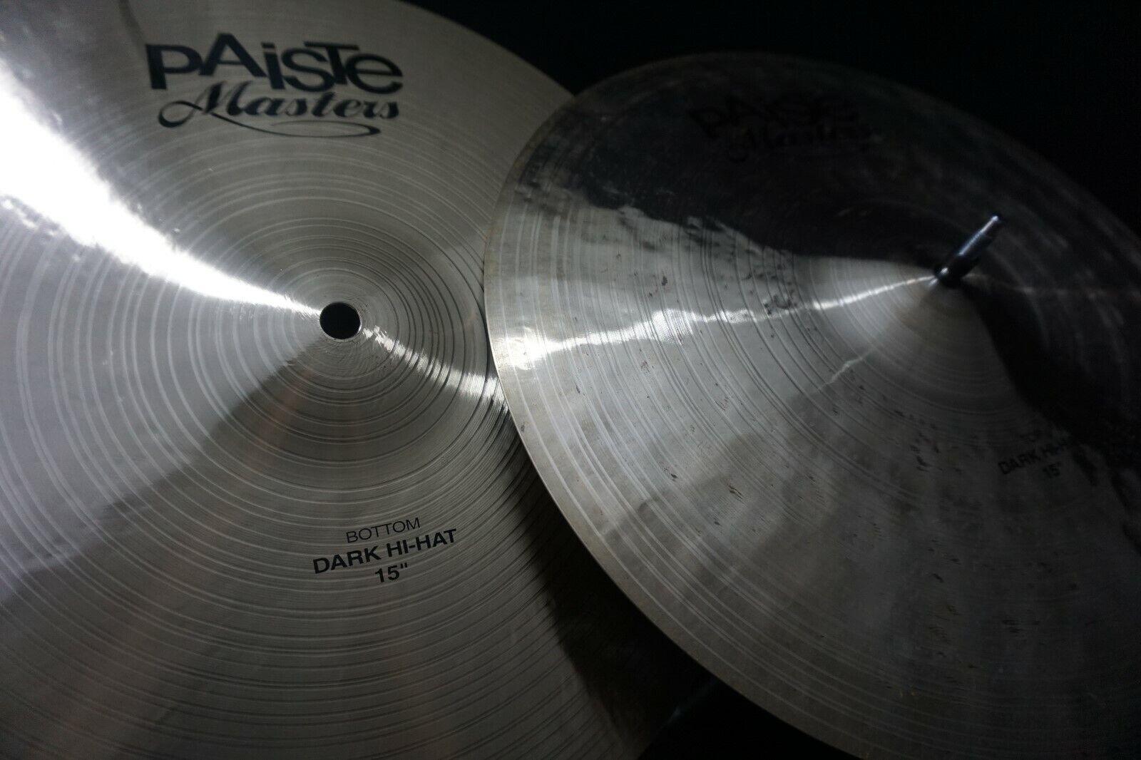 Paiste 15  Masters Dark Hi-Hat Cymbals (Pair)