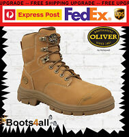 Oliver Men's Work Safety Boots Shoes Steel Toe Lace Up At's Australia 55332