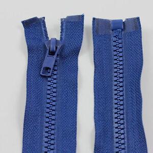 BLUE-10-039-039-32-039-039-INCH-CHUNKY-NO-5-OPEN-END-ZIPS-PLASTIC-ZIPPER-12-SIZES-NZ1227