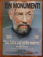 Philippe Noiret DAS LEBEN UND NICHTS ANDERES Bertrand Tavernier Plakat
