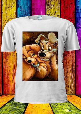 Disney Lady E Il Tramp Love Dog T-shirt Canotta Tank Top Uomini Donne Unisex 385-mostra Il Titolo Originale Lasciamo Che Le Nostre Merci Vadano Al Mondo