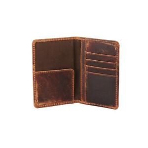 Nice Vintage Genuine Leather Passport Cover Holder Travel Case Card Organizer