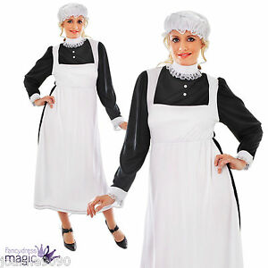 Adult-Womens-Ladies-Victorian-Maid-Fancy-Dress-Costume-Outfit-Size-10-12-14-16
