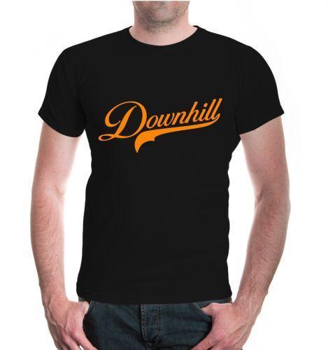 Herren Unisex Kurzarm T-Shirt Downhill Logo Logo bergab Berge Fahrrad Bike