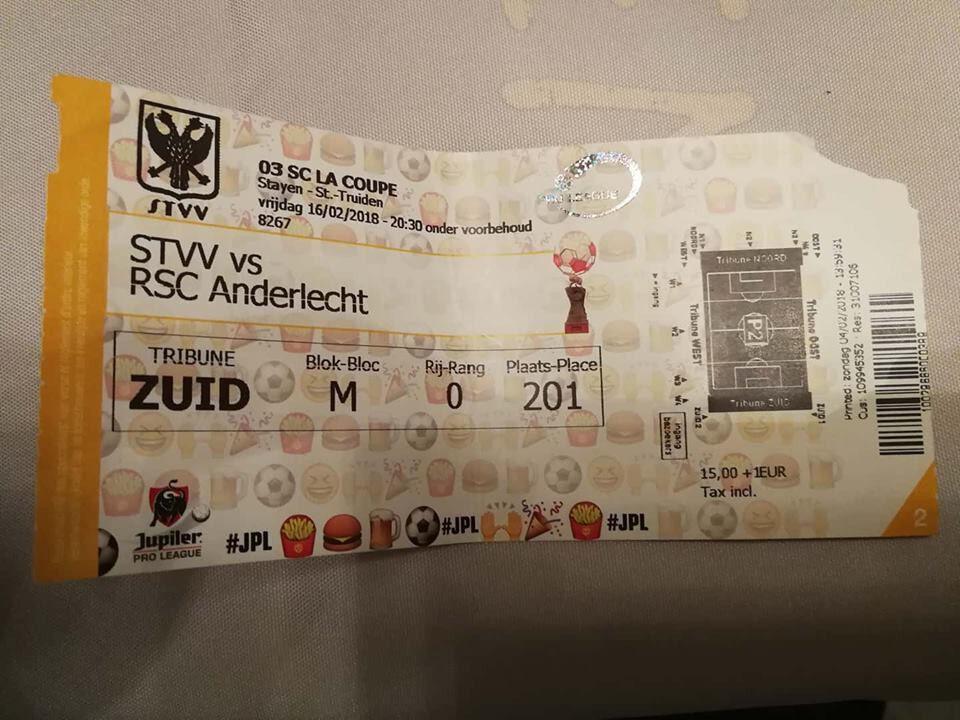 Ticket Anderlecht : STVV - RSC Anderlecht Ticket 16-02-2018 a4f314