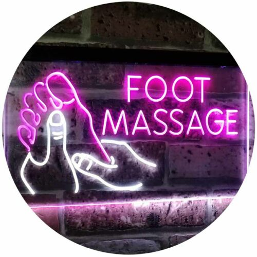 Foot Massage Walk-in-welcome OPEN Bar Dual Color Led Neon Sign st6-i2178