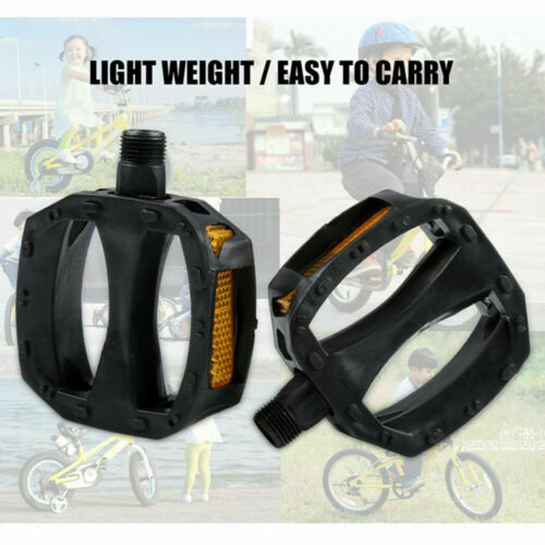 """Road Mountain MTB ATB Bicycle Bike Pedals Nylon Cage 9//16/"""" Pair^"""