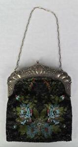 antike-Perlenstickerei-Perlentasche-Operntasche-Abendtasche-Tasche-Handtasche