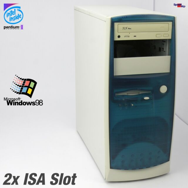 2x ISA SLOT COMPUTER PC INTEL PENTIUM II WINDOWS 98 RS-232 PARALLEL MSI MS-6117