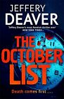 Jeffery Deaver ____ The octobre liste ____NEUF ___ Livraison gratuite GB