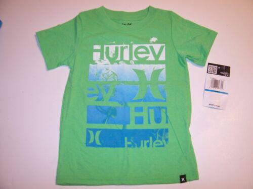 NEW Hurley short sleeve T shirt boys  green blue sz 2T 3T 4T 24m 12m