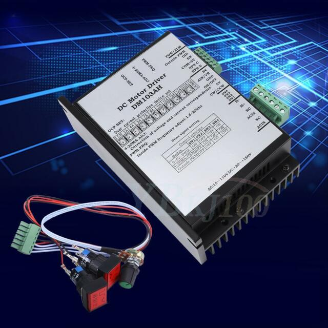 20-110V 2000W Brushed DC Motor Speed Controller Board PWM PLC Governor NEW