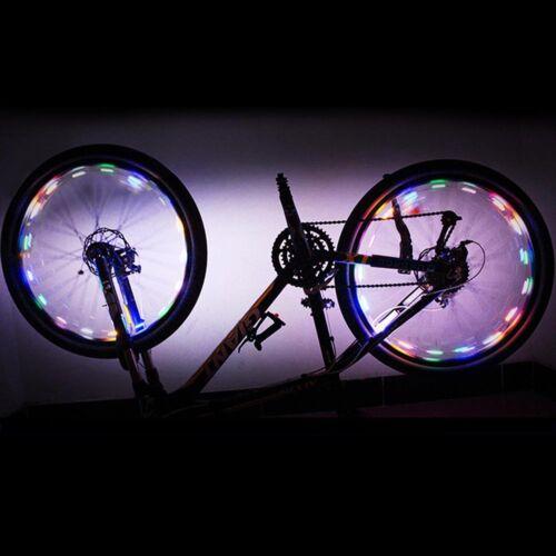 LED Bicycle Bike Wheel Light Auto Open/&Close Wheel Spoke Light String Colorful