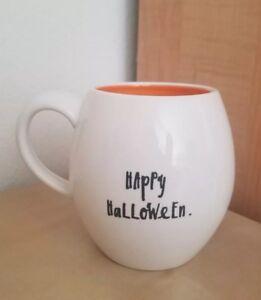 BRAND-NEW-Rae-Dunn-by-Magenta-HAPPY-HALLOWEEN-Pumpkin-Mug-Home-Dining-Decor