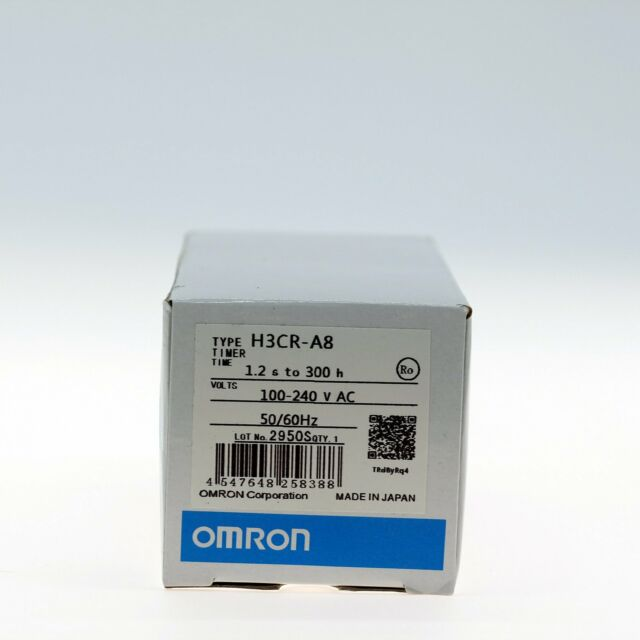 1PC NEW IN BOX OMRON Timer H3CR-A8 ( H3CRA8 ) 100-240VAC Free shipping